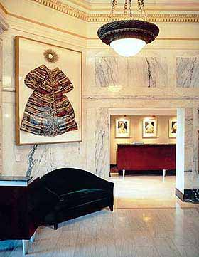 View of the Lobby in the Hotel Teatro in Denver, Colorado